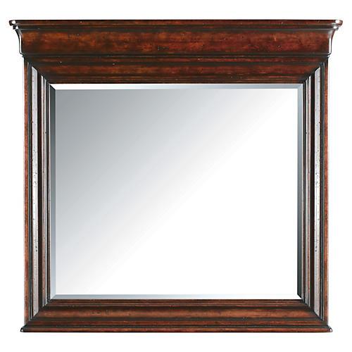 Louis Landscape Mirror, Mahogany