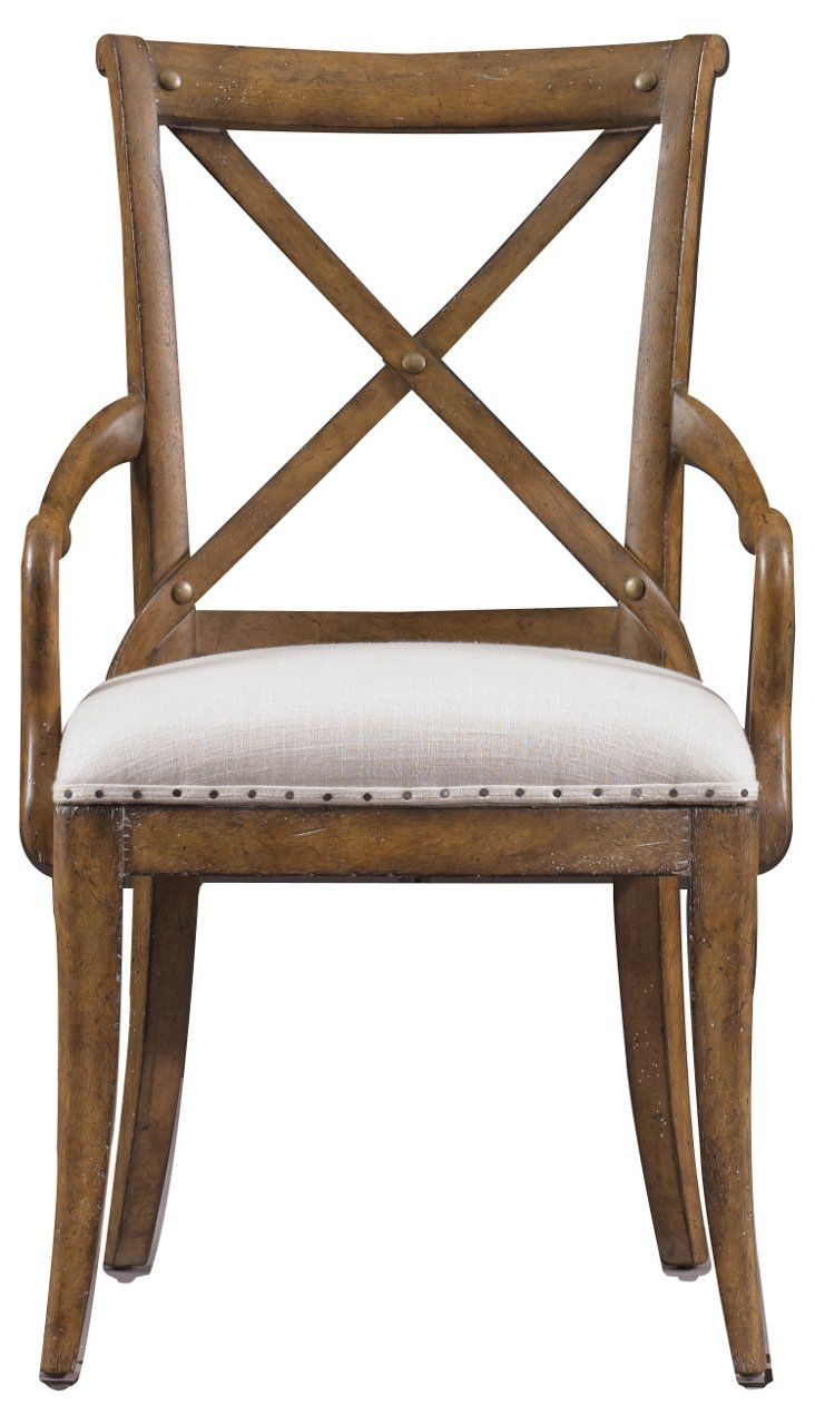 Farmhouse Armchair, Tobacco/Eggshell
