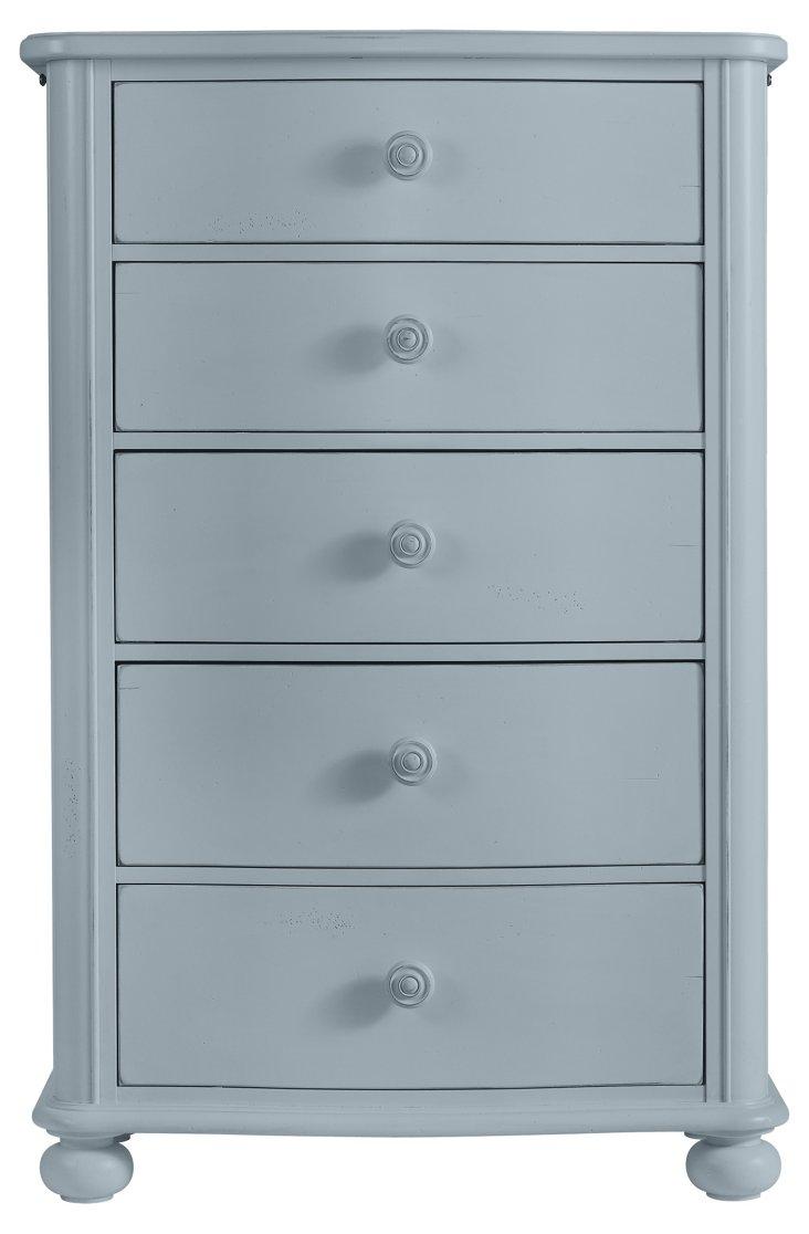 Tall Cottage Dresser, Cornflower Blue