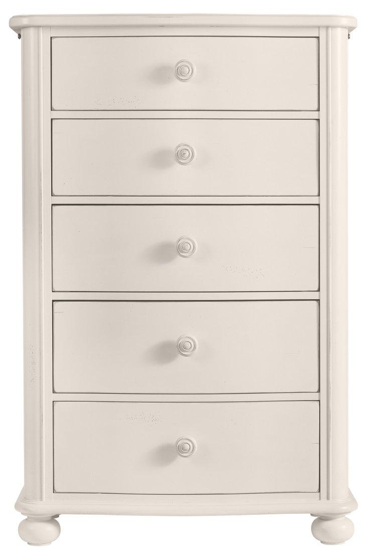 DNU,DiscTall Cottage Dresser, White