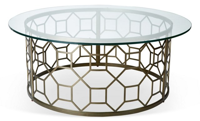 Avalon Round Cocktail Table, Bronze