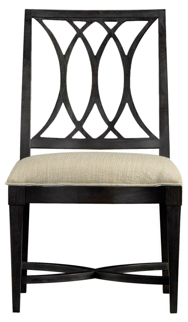 Heritage Coast Side Chair, Black