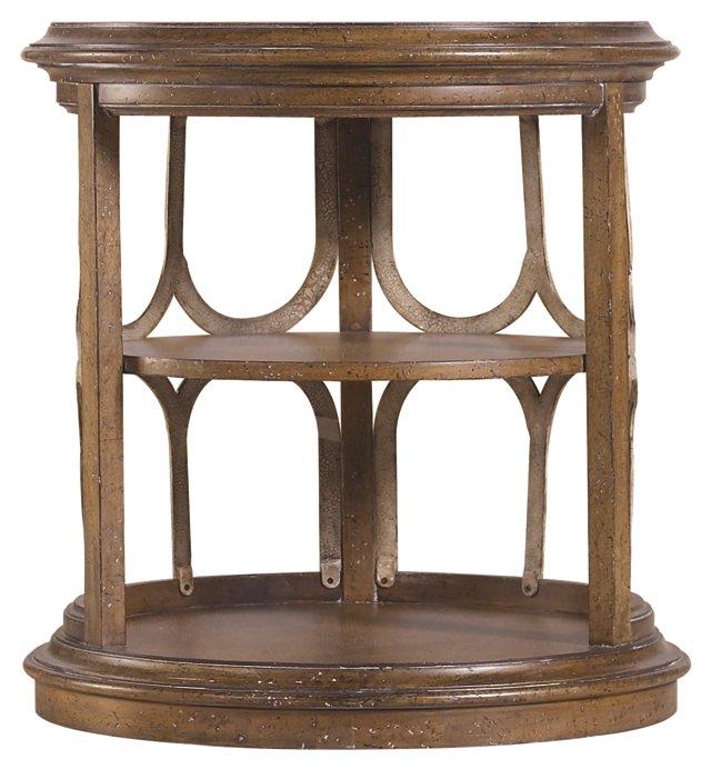 Monserrat Round Drum Table, Umber