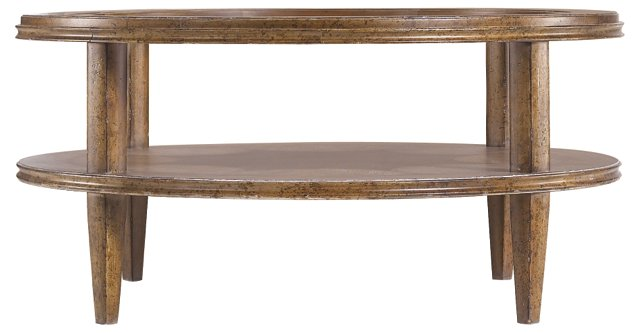 """Calvin 42"""" Round Coffee Table, Umber"""