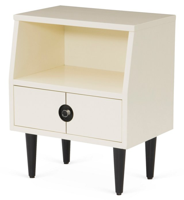 Finnline 1-Drawer Nightstand, White