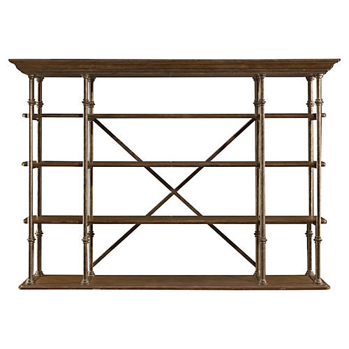 Farmhouse Open-Air Shelf, Blonde