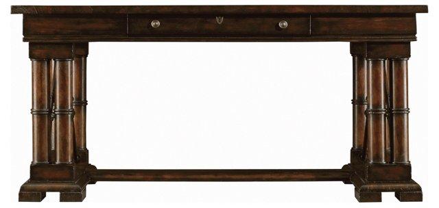 "Patron 64"" Desk, Sepia/Ebony"