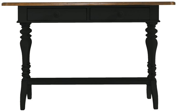 """Isabelle 54"""" Console Table, Black"""
