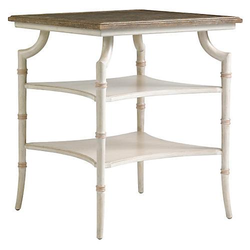 Saybrook Bamboo Side Table, Rose