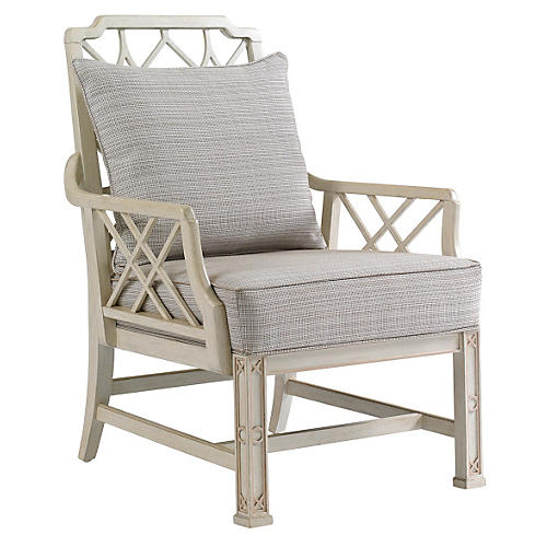 Brighton Lounge Chair, Light Gray