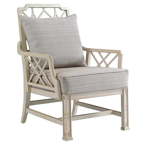 Brighton Lounge Chair, Light Gray