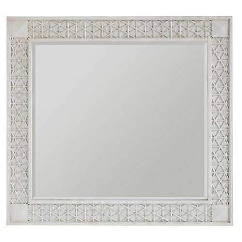 Honeycomb Motif Mirror, White