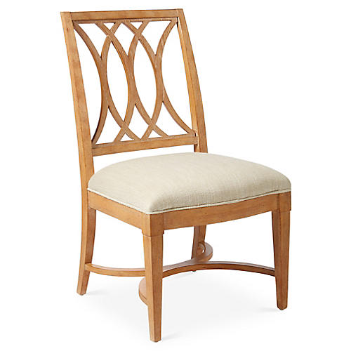 Heritage Coast Side Chair, Pecan/Ivory