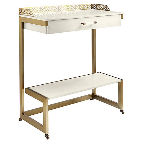 Catalina Bar Cart, White