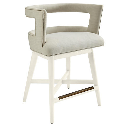 Crestwood Counter Stool, Gray/White