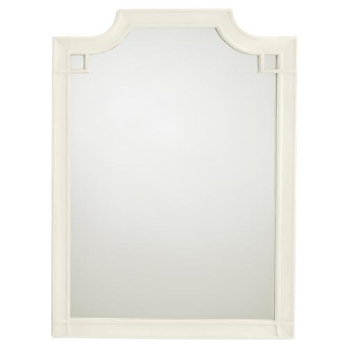 Silver Lake Vertical Mirror, White