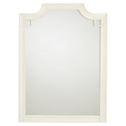 Silver Lake Vertical Mirror, White