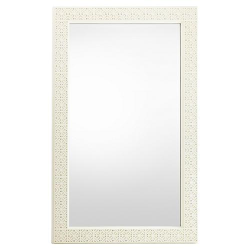 Catalina Floor Mirror, White