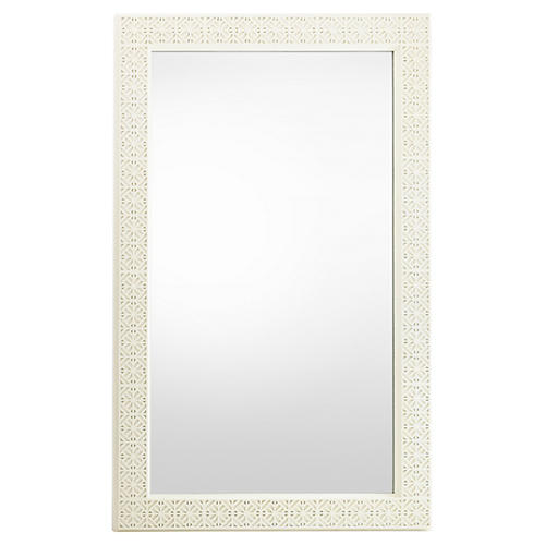 Catalina Floor Mirror, White
