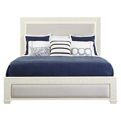 Catalina Panel Bed, White