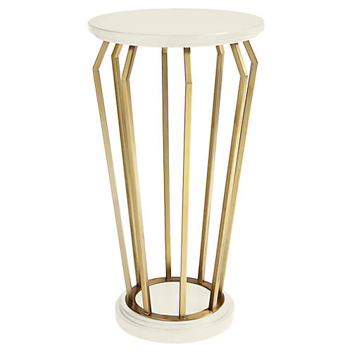 Manzanita Side Table, White