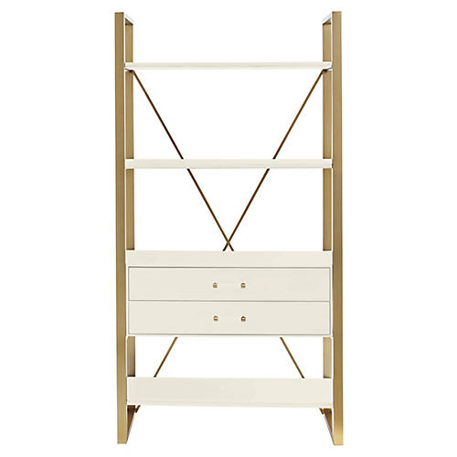 "Harwell 69"" Bookcase, White"