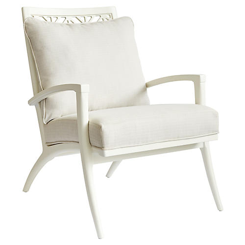 Catalina Accent Chair, White