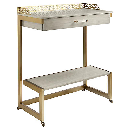Catalina Bar Cart, Light Gray