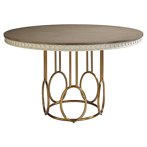 "Venice Beach 56"" Dining Table, Lt. Gray"