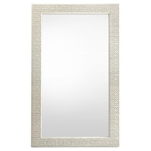 Catalina Floor Mirror, Lt. Gray