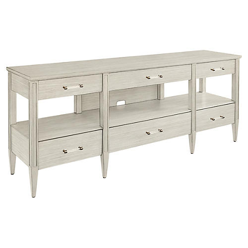 Mulholland Media Console, Light Gray