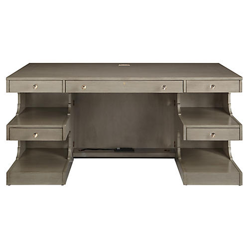 "Cape Dutch 64"" Writing Desk, Gray"