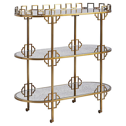 La Cuna Bar Cart, Murciélago Brass