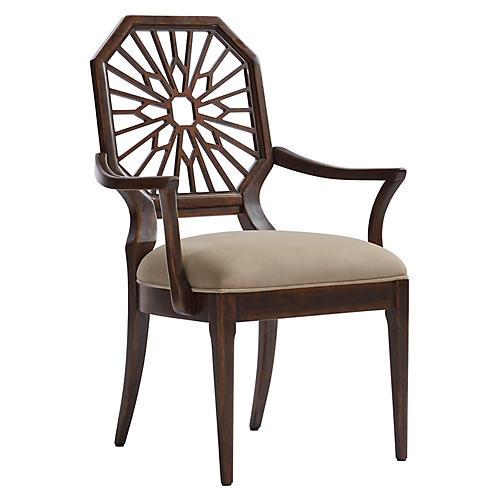 Lasa Armchair, Verdado Gray/Mahogany