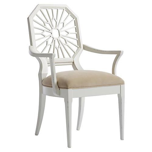 Lasa Armchair, Verdado Gray/White