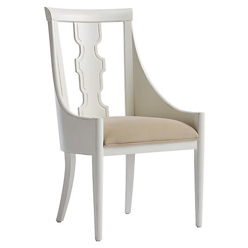 Baro Host Armchair, Verdado Gray/White