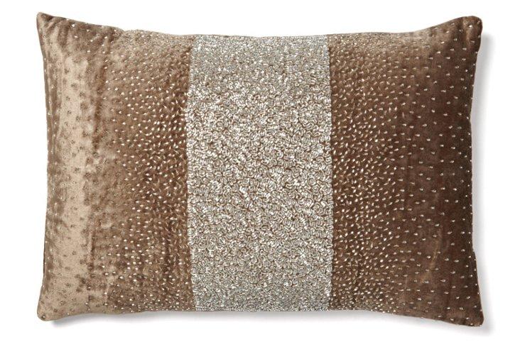 Stripe 14x20 Pillow, Light Brown