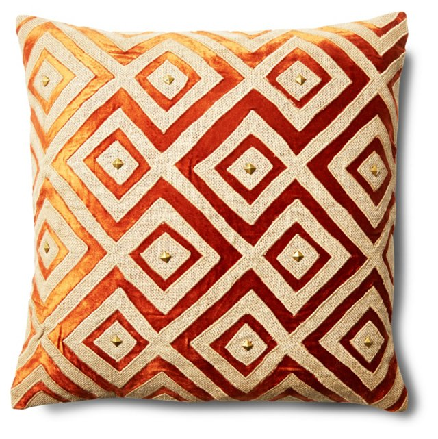 Megan 20x20 Pillow, Orange