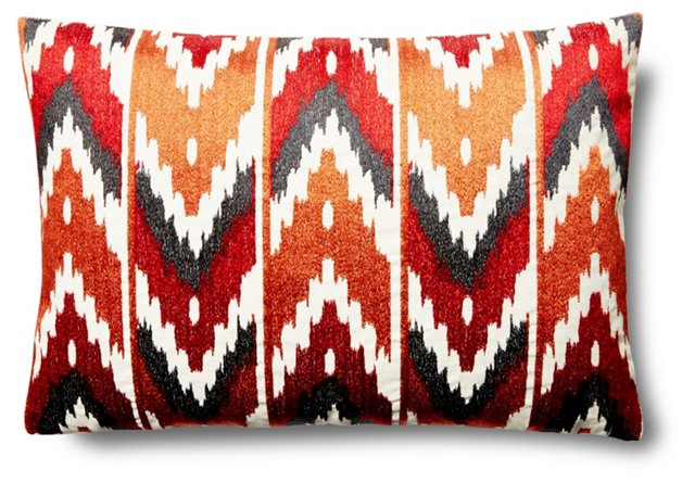 Los 14x20 Linen-Blend Pillow, Multi