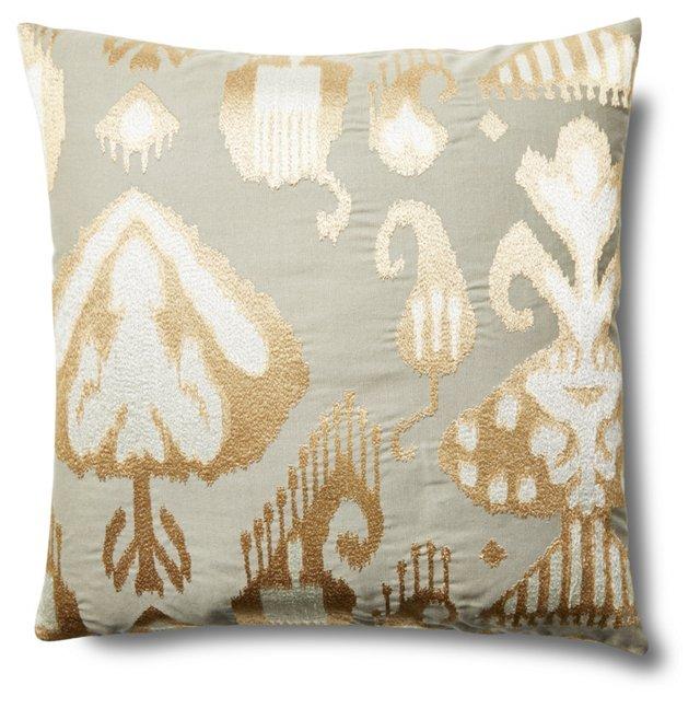 Casi 20x20 Linen-Blend Pillow, Natural