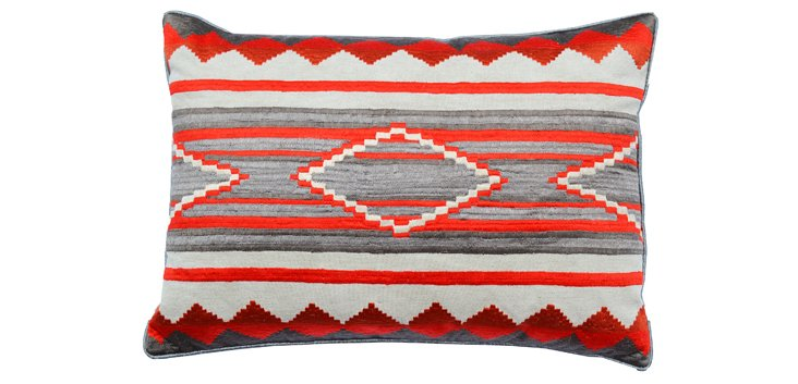 Ashley 20x20 Cotton Pillow, Red