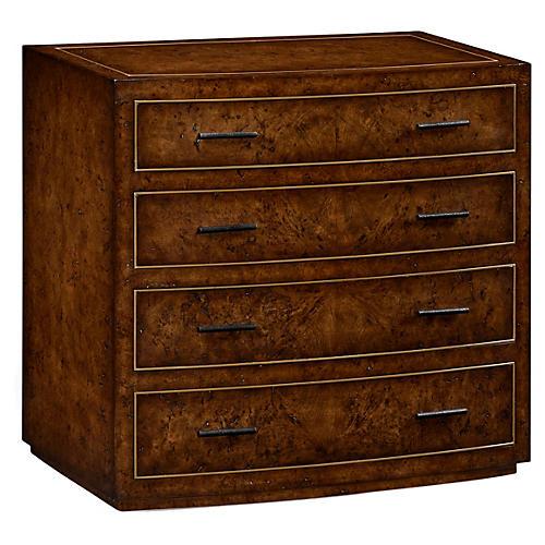 Burr 4-Drawer Dresser, Medium Oak