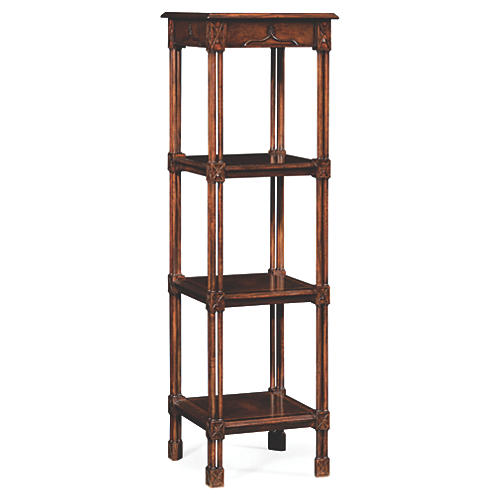 "Chippendale 56"" Tall Étagère, Walnut"