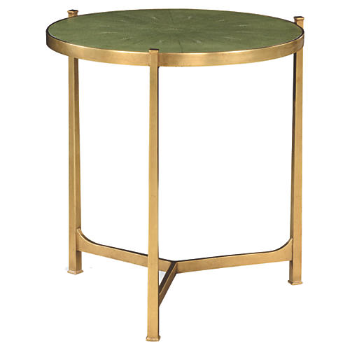 "Vela 25"" Round Side Table, Gold"