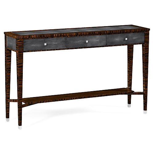 "Carly 57"" Console, Honey/Gray"