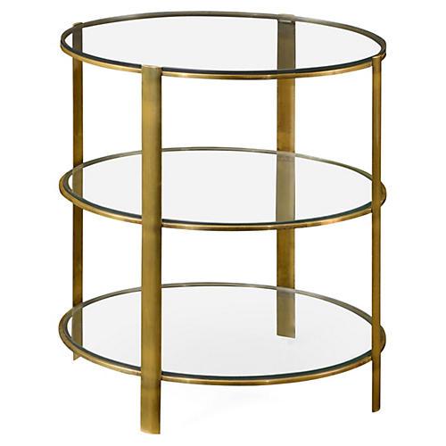 Modernist Side Table, Gold