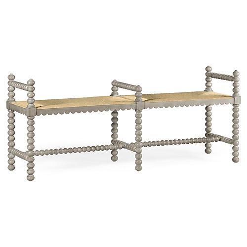 "Bellingham 60"" Double Bench, Whitewash"