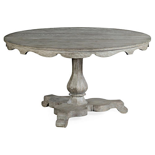 "Overbury 54"" Round Dining Table, Gray"
