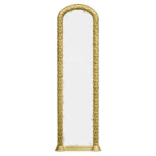 "Helen 26""x75"" Floor Mirror, Gilded Gold-leaf"