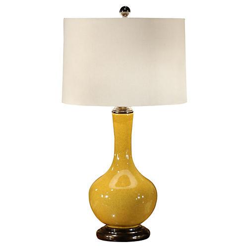 Water Bottle Table Lamp, Mustard